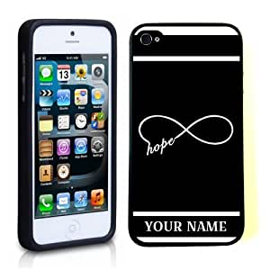 SudysAccessories Personalized Customized Custom Infinity Hope Black ThinShell Case Protective iPhone 5 Case iPhone 5S Case-Personalized For FREE(Send us an Amazon email after purchase with your choice of NAME)