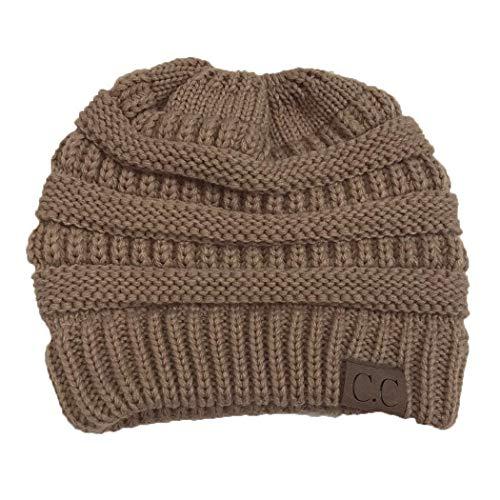 Foshin Women Fashion Casual Crochet Knit Hats Skullies Beanie Hat Winter Warm Cap Skullies & Beanies