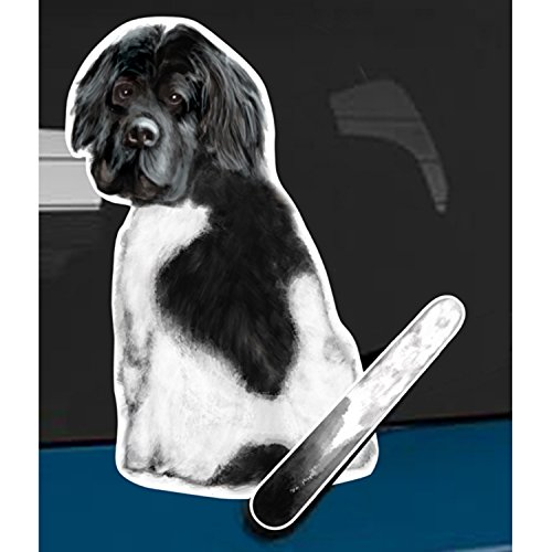 Landseer Newfoundland dog Wagging Wiper car rear wiper sticker decal