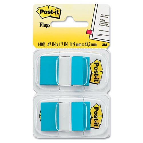 Post-it Flags - Standard Tape Flags in Dispenser, Bright Blue, 100 Flags/Dispenser 680-BB2 (DMi PK