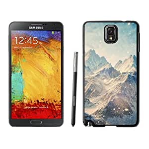 NEW Unique Custom Designed Samsung Galaxy Note 3 N900A N900V N900P N900T Phone Case With Himalayan Mountains Landscape Snowfall_Black Phone Case