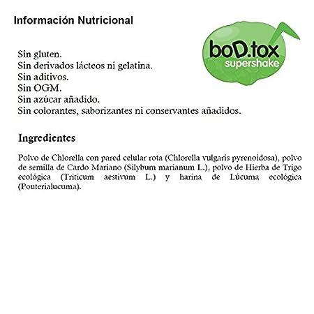 BoD.tox Eco 500 g | Desintoxicante | Clorofila | Cuida el hígado | Equilibra el colesterol