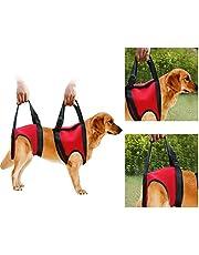 Hondendrager Voorste Hond Ondersteuning Harnas Huisdier Walker Lift Trek Vest Sling Ondersteuning Revalidatie voor Oude & Gewonde Honden (Voorpoot - L-Rood)