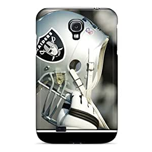Galaxy S4 Hard Back With Bumper Silicone Gel Tpu Case Cover Oakland Raiders