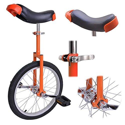 Orange 18 Inch 18'' Unicycle Cycling Bike With Adjustable Saddle Seat