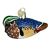 Old World Christmas Ornaments: Wood Duck Glass Blown Ornaments for Christmas Tree