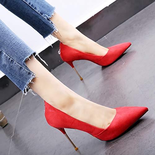 HOESCZS Temperament Damenschuhe Damenschuhe Damenschuhe 2019 Frühjahr Neue Spitze Stiletto High Heel Metall mit Mode Strass Schuhe 015afa