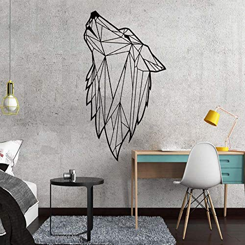 - Nordic Style Art Geometric Wolf Vinyl Wall Sticker for Living Room Decoration Decals Bedroom Decor Wall Decal Mural Wallpaper e3 43x70cm