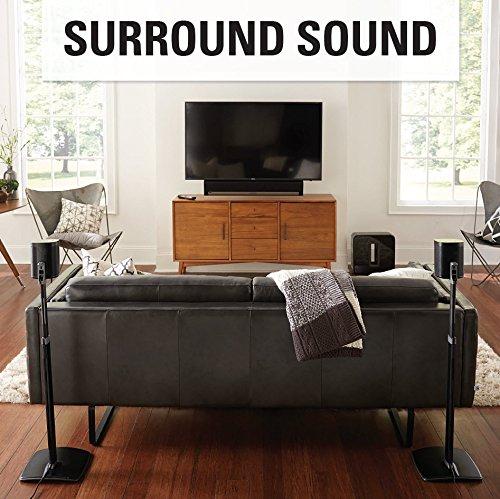 3/ /Noir Sanus Hauteur r/églable Support de Haut-Parleur sans Fil pour Sonos One Play 1/et de Jeu