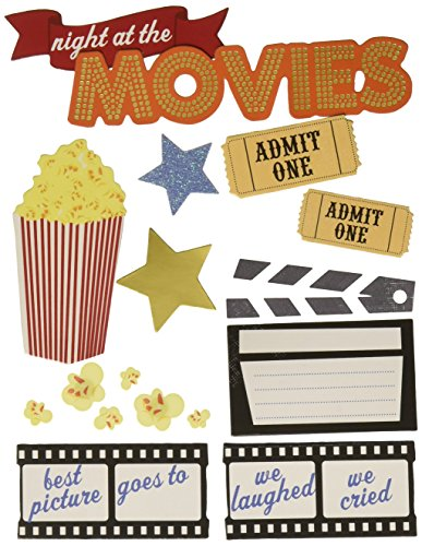Spoken Themed Embellishments Night Movies