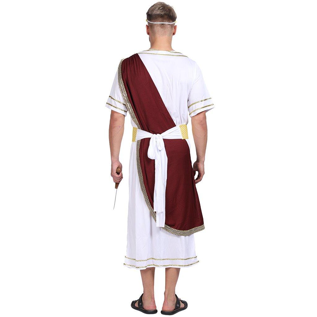 EraSpooky Hombre Romano Disfraz Elaborado Vestido César Brutus Túnica Traje