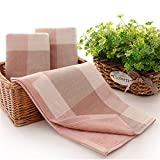 Cotton Towels Elegant Embroidered Bathroom Hand Towels Cleaning Face Hand Pink