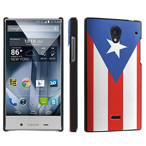Sharp Aquos Crystal (Virgin Mobile, Boost Mobile, Sprint) (Puerto Rican Flag) Sleek Clip Cover Case by [SkinGuardz]