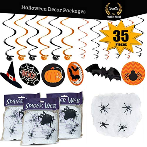 [Daliz] Halloween Swirl and Spider Web Decorations| Cute