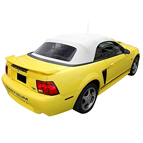 Ford Mustang Convertible Top With Plastic Window White (Install Mustang Convertible Top)