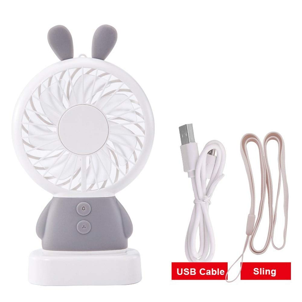 VT BigHome Mini USB Fan Portable Hand Fan with LED Night Light Battery Operated USB Power Handheld Fan Cooler Electric Laptop Fan for Home