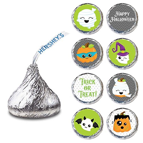 Halloween Label for HERSHEY'S KISSES® chocolates - Trick or Treat Holiday Candy Sticker - Set of 240 (Treat Kisses)