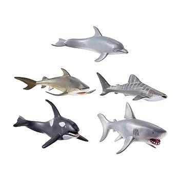 Animales Tiburón Juguete Unids Juguetes Ballena 5 Figura Stobok Mar 6fb7gy