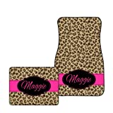 scotch guard carpet spray - Tin Tree Gifts Customized Car Floor Mats Personalized Cheetah (All Four (Front & Back))