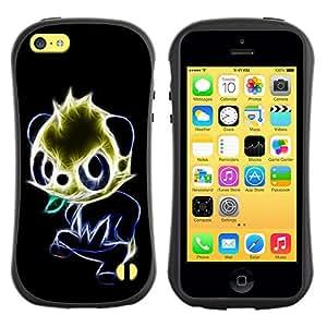 Suave TPU GEL Carcasa Funda Silicona Blando Estuche Caso de protección (para) Apple Iphone 5C / CECELL Phone case / / Glowing Panda /