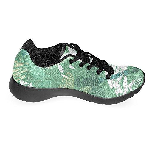 Interestprint Kvinna Jogging Kör Sneaker Lättvikts Gå Gång Casual Komfort Sports Löparskor Slända Och Blommor Multi 1