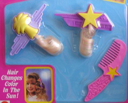 Accesorios para el cabello con cambio de color de Barbie - TAMAÑO DEL NIÑO (1989 Arco Toys, Mattel)