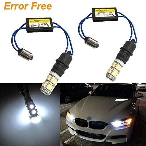 2x White 6000K Error Free BA9 H6W LED Bulbs Kit For BMW F30 3 Series Parking Lights