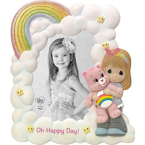 Precious Moments Company 163417 Precious Moments, Care Bears, Oh Happy Day!, Photo Frame, Resin, 163417,Multi