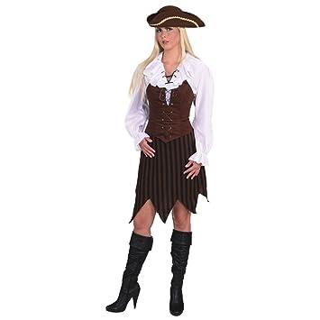 Disfraz de pirata con flecos vestido - Edad media de edad media ...