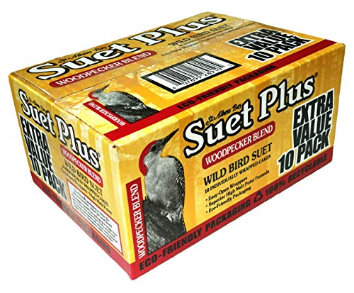 St. Albans Bay Suet Plus Woodpecker Bird Suet 10 Pack of 11 oz. Bird Suet Cakes