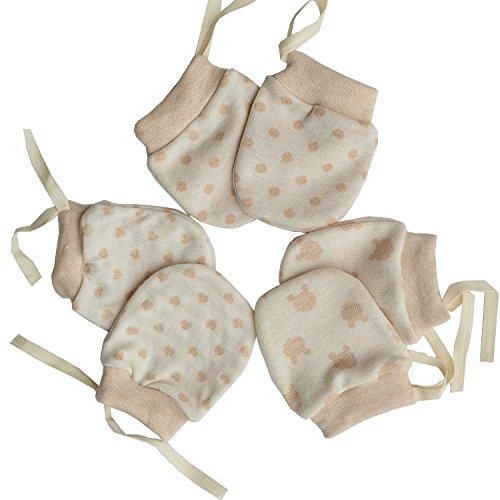 Scratch Free Newborn Mitten Organic Cotton Mitts Baby Glove for Infant 0-6 Month Unisex