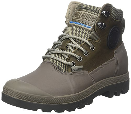 Fallen Rock Alto Sneaker Brown Palladium Wp2 Collo Sporcuf a Unisex Major Grigio Adulto U 0 wgpPnRqP7