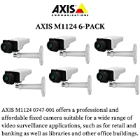 Axis M1124 6-PACK - 0747-001 Network Camera for Day/Night with HDTV 720p