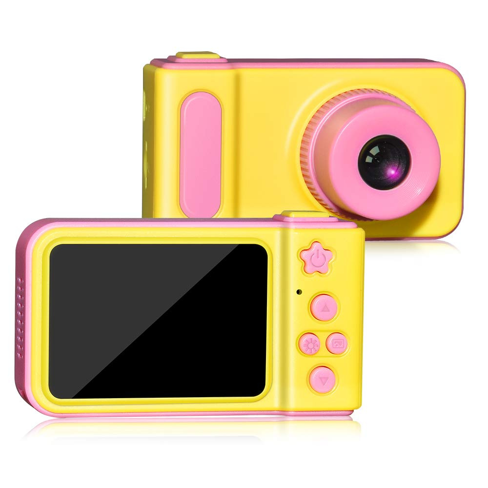 WIKI Birthday Presents Gifts for 3-8 Year Old Girls, Digital Camera for Kids Cool Toys for 3-8 Year Old Girls Outdoor Toys Age 3-8 Pink WKUSZXJ02 by WIKI (Image #1)