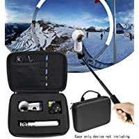 Protective Case for Samsung Gear 360 VR Camera, Gear 360 SM-R210 (2017 Edition) Spherical Cam 360 degree 4K Camera, Universal Foam Blocks design, Spike foam in the lid (Ballistic Black Large)
