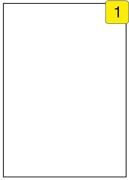 Größe 50 Blatt DIN A4 50 Etiketten 210x297