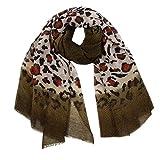 Ladies Scarf, Oldeagle Women Fashion Retro Leopard Print Splice Scarf Multi-Purpose Shawl Scarf (Green)