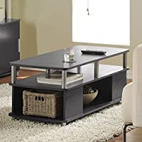 Luxury Home Furniture Wood Top Carson Living Room Rectangle Coffee Table