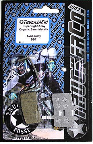 Truckerco Superlight Alloy Organic Semi-Metallic Brake Pads All Avid Juicy Models Juicy Seven, 7, 5, 3, 3.5, Juicy Carbon, Juicy Ultimate BBDB, BB7, BB7 Road Promax DSK905, 907 ()