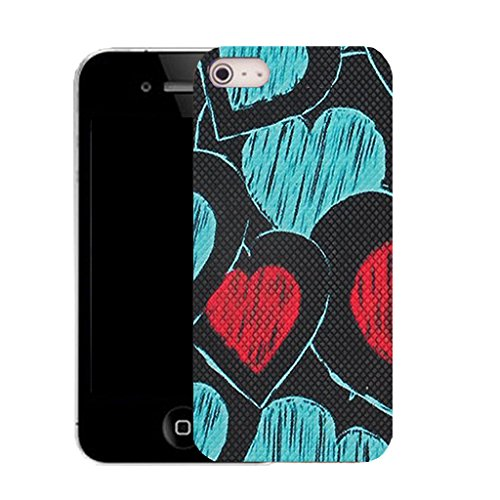 Mobile Case Mate IPhone 4s clip on Silicone Coque couverture case cover Pare-chocs + STYLET - tenderness heart pattern (SILICON)