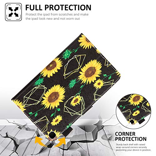 Galaxy Tab A 8.0 inch Case, T290 T295 T297 Case, Dteck PU Leather Folio Multi-Angle Viewing Full Body Protection Case for Samsung Galaxy Tab A 8.0 inch Model T290 T295 T297 2019 Release, Sunflowers