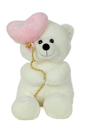 512abcaa53cc Buy Giftwish Soft Stuff Cute Teddy Bear With I Love You Heart Ballon ...