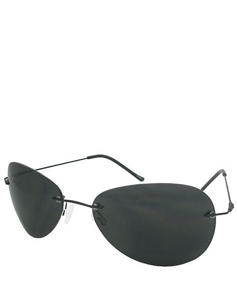 Horatio Style Gafas, Sin montura / Lentes ahumadas: Amazon ...