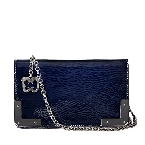 Eric Javits Luxury Fashion Designer Women's Handbag - Cassidy - Navy Mix by Eric Javits