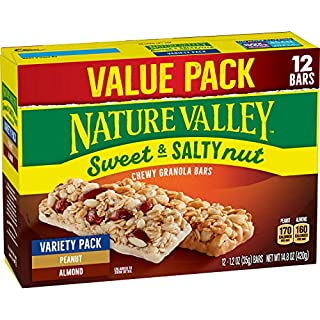 Nature Valley Granola Bars, Sweet & Salty Bar, 100% Natural Oats, Variety Pack, 12 Bars