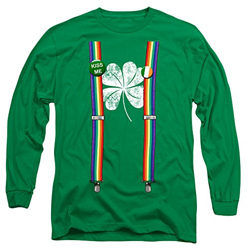 st. patrick's day Shamrock & Suspenders Long-Sleeve T-Shirt