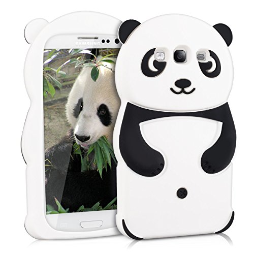 kwmobile Panda Silicone Case for Samsung Galaxy S3 / S3 Neo - Soft Silicone Gel Protective Cover with Cute Design (Panda Galaxy For Case Phone S3)