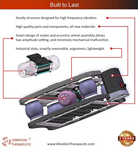 VT High Frequency Linear Vibration Plate Machine, Deep Tissue Vibration 15-40 Hz, Fitness and Therapy, Model VT003F 5