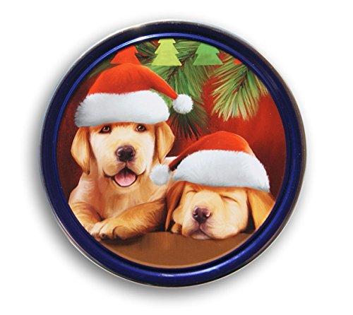 - Christmas Holiday Butter Cookies Tin (Golden Retrievers)