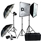 LimoStudio Professional Photography 600W Studio Flash Strobe Light Softbox Lighting Kit, LMS405V2